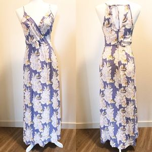 ASTR Purple Floral Maxi Dress